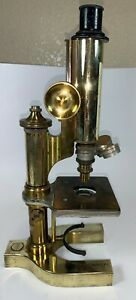 Antique-Bausch-and-Lomb-Microscope-Solid-Brass
