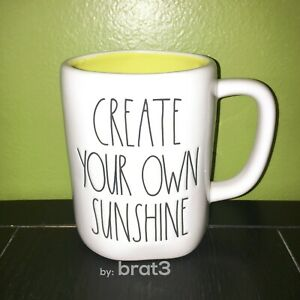 New-RAE-DUNN-LL-034-CREATE-YOUR-OWN-SUNSHINE-034-Mug-With-Yellow-Inside-By-Magenta