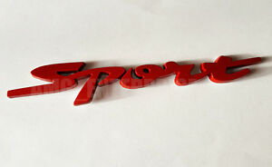 RED Chrome 3D Metal SPORT Badge Sticker for Citroen C1 C2 C3 C4 C5 C6 Dispatch