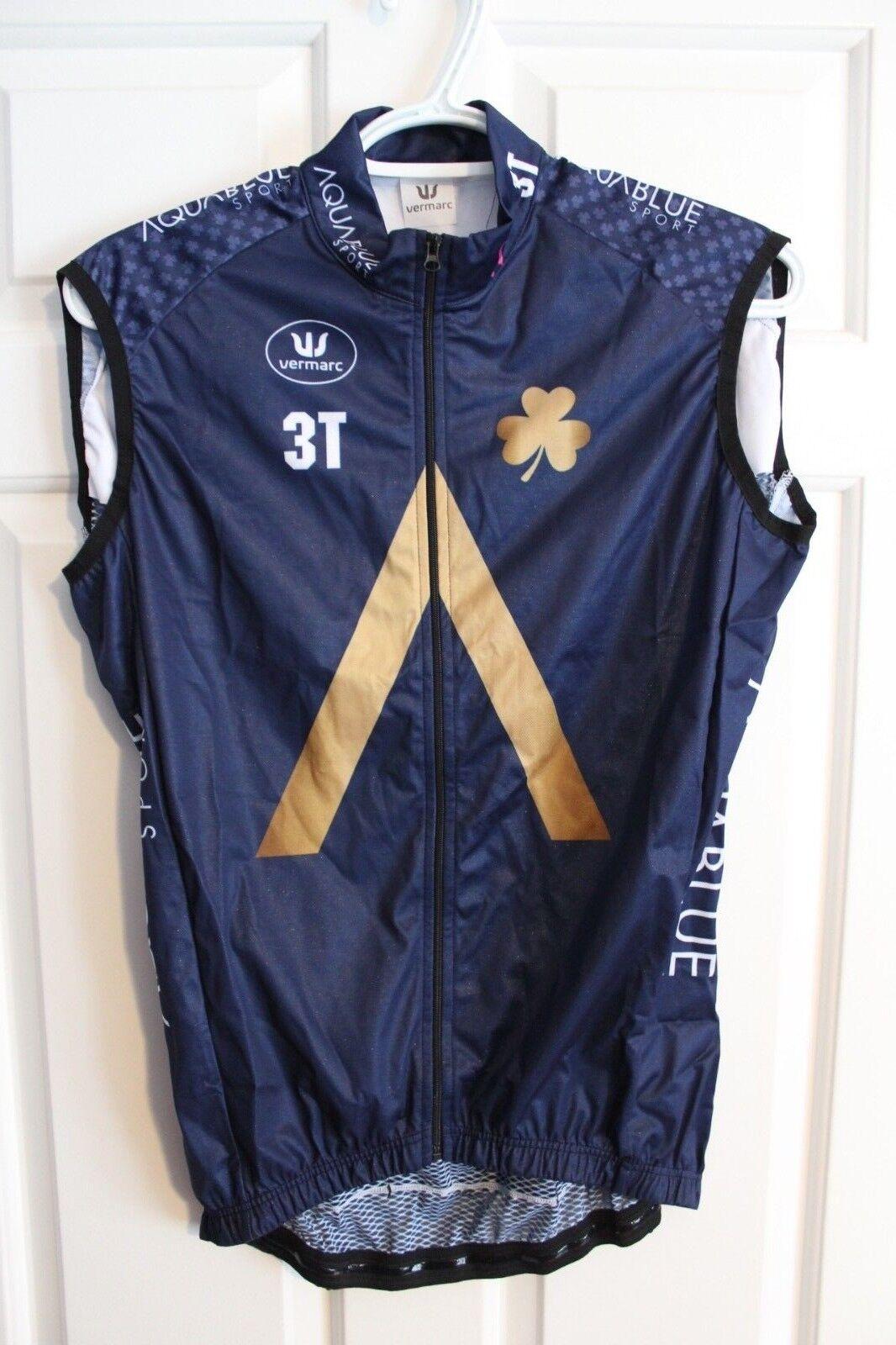 NEW Vermarc   Aqua bluee Sport Team Wind Vest    S M Small Medium   2018