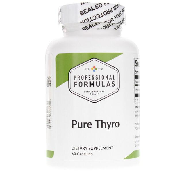 PURE THYRO 150mg PROFESSIONAL FORMULAS Lyophilized Thyroid Glandular Mfg: 08/20