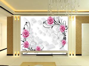 3D Art Lattice pinks 8 Wall Paper Murals Wall Print Wall Wallpaper Mural AU Kyra