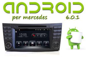 E-e-CLS-W211-Autoradio-Android-6-QUADCORE-GPS-DVD-per-Mercedes-Benz-Bluetooth