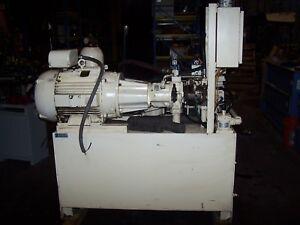REXROTH BOSCH 40 HP HYDRAULIC POWER PUMP 460 VAC 100 GALLON AA10VS028DRG/3
