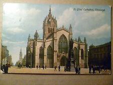 Pre 1915 Postcard St. Giles Cathedral, Edinburgh (+1/2 Penny Postage Revenue)