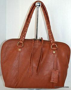 Image Is Loading Linea Pelle Brown Satchel Leather Bag Handbag Purse