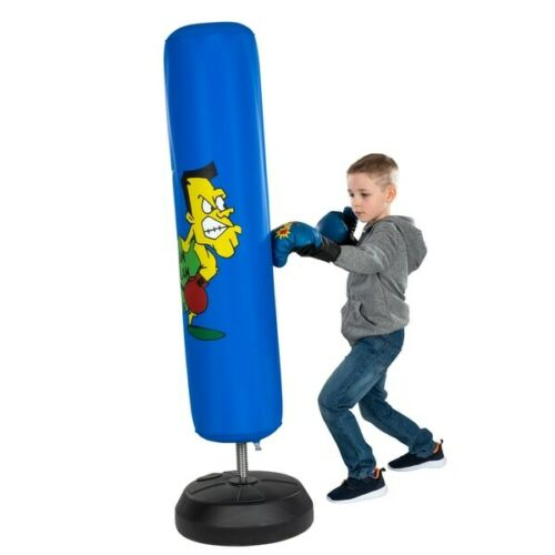 Boxing Stand with Gloves Kids Children Boys Play Punch Punching Training Gift