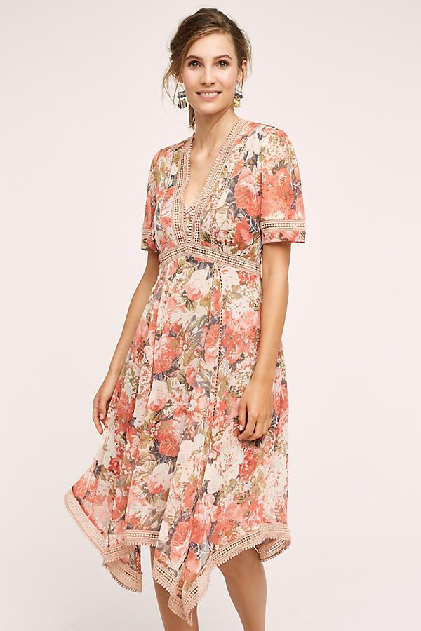 2cfab922fef9 NWT ANTHROPOLOGIE pink Bouquet Dress By RANNA GILL size 4, FAB BOHO FAVE