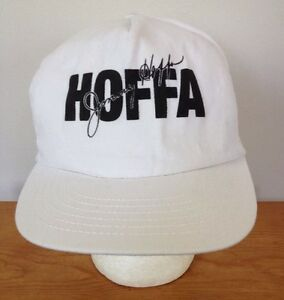 Image is loading Vintage-Jimmy-Hoffa-White-Baseball-Hat-Adjustable-USA- 2da22549b80