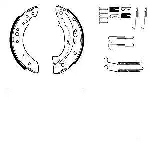 ARRIÈRE DELPHI Plaquettes de frein pour tambours CITROËN C2 1.1 1.4 1.4 16 V 1.4 Hdi 1.6 1.6 HDI