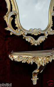 Badzubehör & -textilien Antik Wandspiegel Mit Wandkonsole Spiegel 50x76 Antik Barock Spiegelablage Weiß
