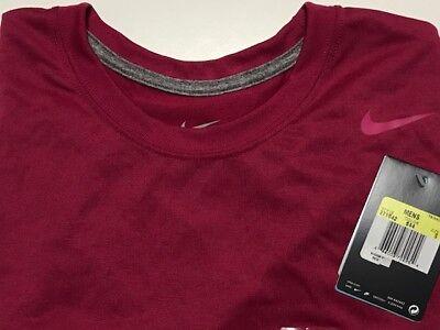 CLOSEOUT Nike 884151-613 Men/'s JDI Swoosh Cotton T-shirt Team Crimson Size XL