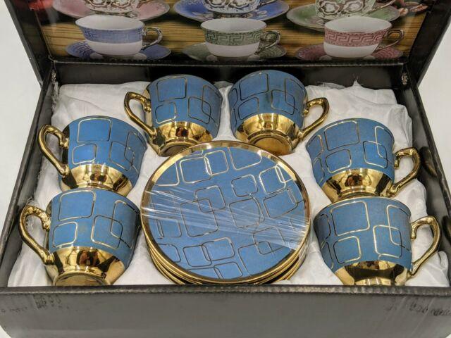 2 oz 12 piece Cuban Espresso Coffee Cup Set Cafe Cubano Cafesito SUNFLOWER