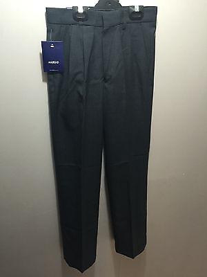 BNWT Boys Sz 12 LWR Brand Dark Grey Elastic Waist Cargo Side Pocket School Pants