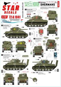 Star-Decals-1-72-Britannique-Shermans-75th-Jour-J-Special-72-A1041