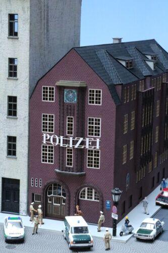 Stadt im Modell 9219 Lasercutbausatz Davidwache Polizeiwache Hamburg H0 1:87
