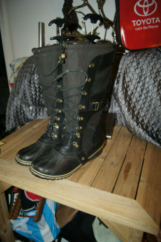 Womens Leather SOREL BOOTS 12 Snow BOOTS 12 Winter