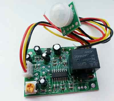 Human body induction 12V PIR IR Pyroelectric Infrared Module Adjust Relay Output