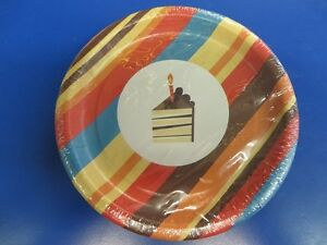 Image is loading Striped-Cake-Brown-Multicolor-Stripes-Birthday-Party-7- & Striped Cake Brown Multicolor Stripes Birthday Party 7\