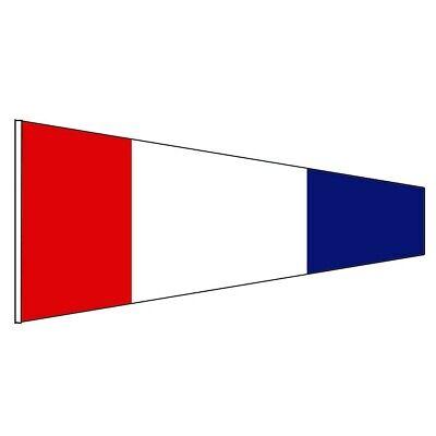 "Naval Signal Flag // Pennant 1st 15/"" X 8/"" 100/% Cotton – Marine Code"