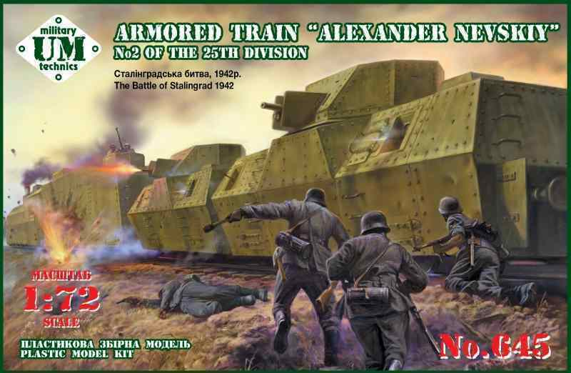 ARMORED TRAIN  ALEXANDER NEVSKIY  NO2 OF THE 25TH DIVISION WWII 1 72 UMT 645