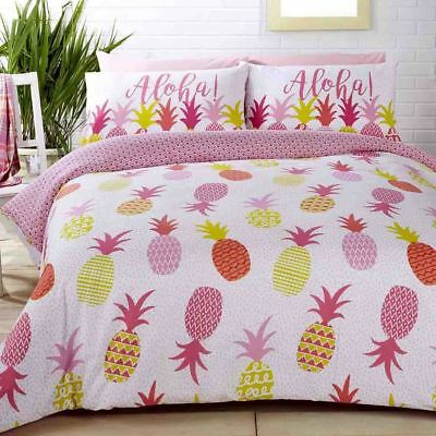 Befangen Gehemmt Selbstbewusst Verlegen Aloha Ananas Gepunktet Pink Baumwollmischung Einzelbett Bettbezug Strukturelle Behinderungen Unsicher