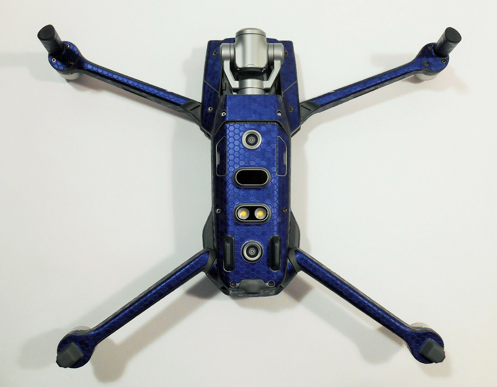 DJI MAVIC 2 PRO ZOOM- SKIN - - - Honeycomb blue   honeycomb bluee - 3-5 Batterien f1456f