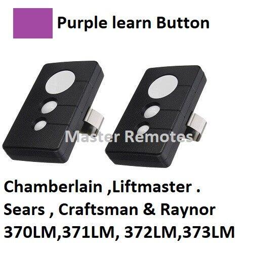 315 MHz 2 pour Chamberlain 373 LM 3 Bouton Porte De Garage Télécommande