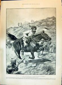 Old-1897-Indian-Frontier-Bengal-Lancers-Duchess-Teck-Cavendish-Chard-Victorian