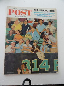 Saturday-Evening-Post-Magazine-Back-Issue-April-11-1959-Complete-Baseball-2