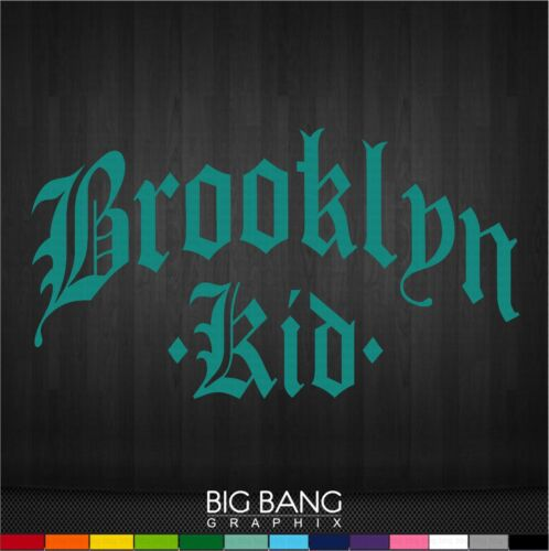 Brooklyn Decal Sticker NY KID Home State City Car Window Letters Funny Gift Town