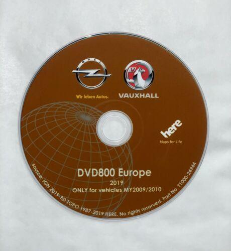 Original Opel Navi dvd800 my2009//2010 Europe versión 2019