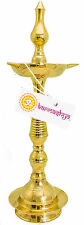 3Kg BRASS DEEPA DIYA FIVE WICKS BATHI KALASH NANDA KERALA DEEPAM OIL LAMP METAL