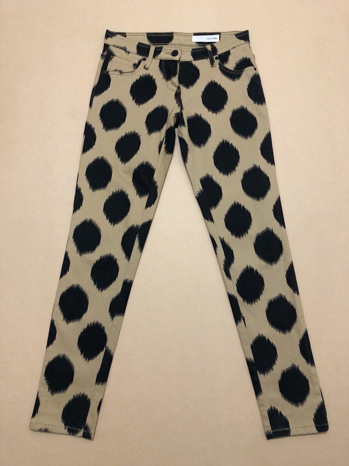 Sass & Bide Jeans  25   AU 6 - 7  Great Cond Seekerstate Denim Pants w  Dots