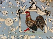 Item 1 Rpg622d Retro Farm Rooster En French Provincial Country Cotton Quilt Fabric