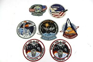 Vintage-NASA-Space-Shuttle-Patches-Columbia-Challenger-Spacelab-2-Lot-of-7
