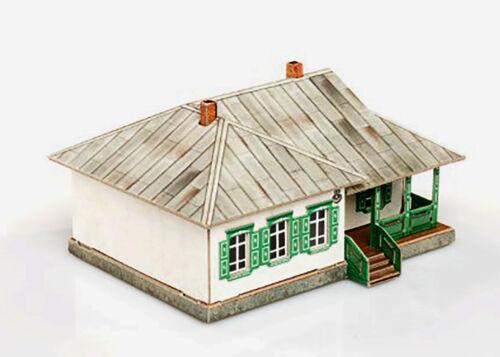 3D Puzzle KARTONMODELLBAU Modell Geschenk Spielzeug Eisenbahn Landhaus 2 Neuheit