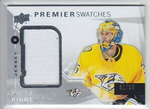 2018-19-UD-PREMIER-PEKKA-RINNE-JERSEY-99-SWATCHES-GAME-USED-Upper-Deck-Predator