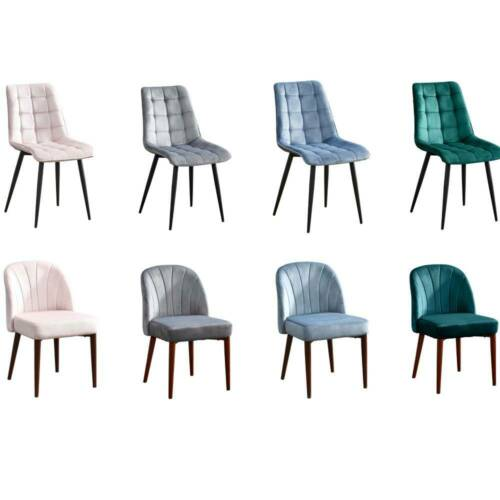 2/4/6 pcs Velvet Dining Chairs Leisure Chair Home Office Kitchen Green Grey Blue Grey,Green,Blue,Pink,Grey 1#,Green 1#,Blue 1#,Pink 1#