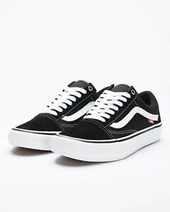 Vans Shoes Old Skool PRO Black White USA Size Skateboard Sneakers