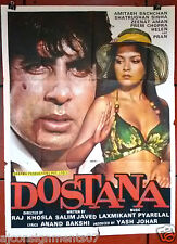 "DOSTANA (AMITABH BACHCHAN) 40""x30"" Indian Hindi Original Movie Poster 80s"