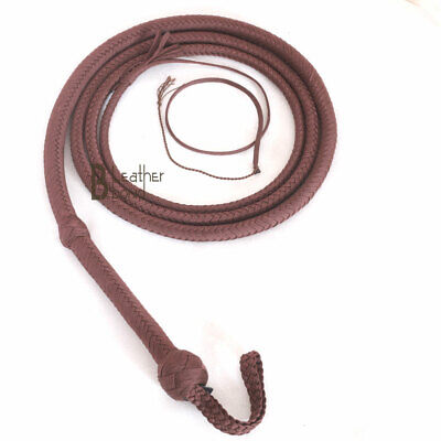 Nylon Para-cord 06 to 16 Foot 26 Plaits Bull Whip Professional Bullwhip Leather