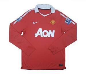 Manchester-United-2010-11-Authentic-Home-Camicia-L-S-eccellente-M-SOCCER-JERSEY