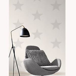 sterne tapete grau auf wei rasch 248135 neu ebay. Black Bedroom Furniture Sets. Home Design Ideas