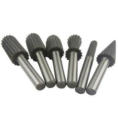 """15//32/"""" Head 6mm Shank Tungsten Carbide Tapered Rotary File Grinding Bit Tool"""