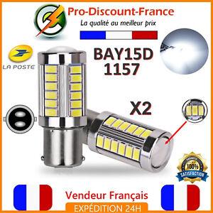 2-x-ampoule-33-LED-BLANC-BAY15D-1157-P21W-VOITURE-STOP-P21-5W-Ampoules-Feux-Jour