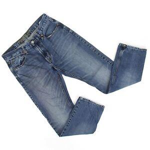 American-Eagle-Mens-Slim-Straight-Denim-Jeans-Sz-31-x-32-31-x-30-Medium-Wash