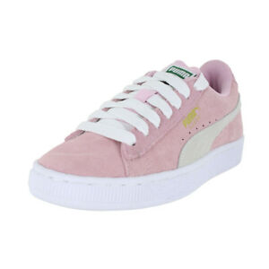 08941aec20336a Image is loading PUMA-SUEDE-JR-PINK-LADY-WHITE-355110-30-