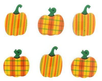 Jesse James Buttons - Dress It Up ~ Plaid Pumpkins 7594 ~ Halloween Autumn Fall