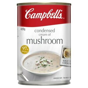 Campbell's Cream of Mushroom Condensed Soup Can 420g